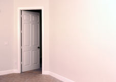 Open white door Stock Image