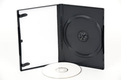 Open white DVD Case with white DVD Royalty Free Stock Photos