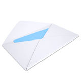 Open white envelope Stock Images