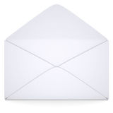Open white envelope Royalty Free Stock Images