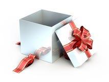 Open white gift vector illustration