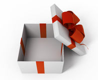 Open white gift box Stock Photography