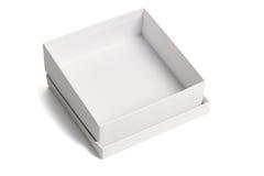 Open white gift box Stock Photos