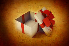 Open white gift box Royalty Free Stock Images