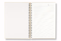 Open White Note Book Royalty Free Stock Image
