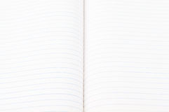 Open white paper note book Stock Photo