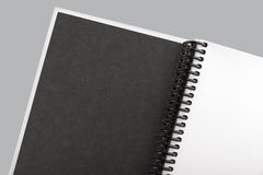 Open white paper notebook close up Stock Photography