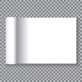 Open the white paper pages on transparent background. White paper pages Stock Photography