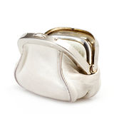 Open white purse Royalty Free Stock Photography