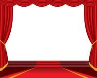 Open white stage Stock Photo