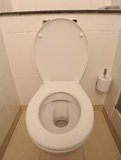 Open white toilet Royalty Free Stock Images