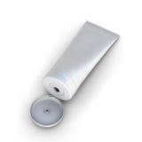 Open white tube cream Stock Photo