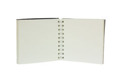 Open White two page notebook without line Stock Photo