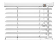 Open white window blinds Royalty Free Stock Image