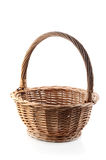 Open wicker basket Stock Image