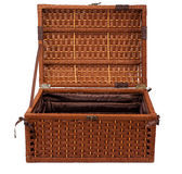 Open wicker chest Stock Image