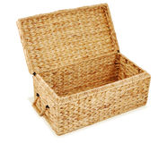 Open wicker chest Royalty Free Stock Images