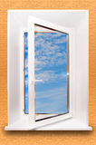 Open window. With clipping path Royalty Free Stock Photography