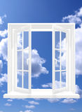 Open window. Conceptual image - window in sky royalty free illustration