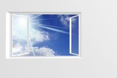 Open window. In sunny sky royalty free illustration