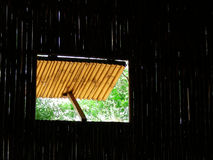 Open Window. An open window in an old bamboo hut Royalty Free Stock Photography