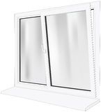 Open window. This image is a vector illustration and can be scaled to any size without loss of resolution Royalty Free Stock Photography