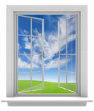Open window allowing fresh spring air into the home Stock Photography