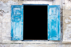 Open window detail in old architecture Royalty Free Stock Photography