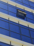 Open window diagonal lines glass office building Royalty Free Stock Photos