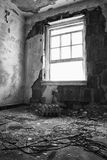 Open Window in Falling Apart Room Stock Photos