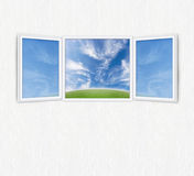 Open window freedom concept Royalty Free Stock Images