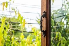 Open the window handle Stock Photography