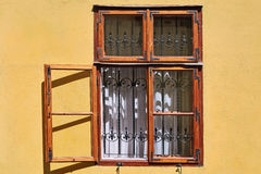 Open Window of an Old Building Stock Image