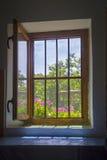 Open window seen from inside Stock Image