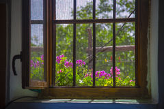 Open window seen from inside Royalty Free Stock Images