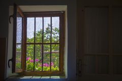 Open window seen from inside Royalty Free Stock Photo
