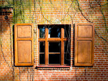 Open window shutters Royalty Free Stock Photos