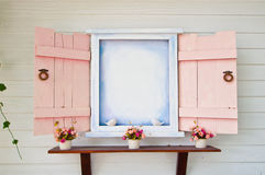 Open window. To back yard Stock Images