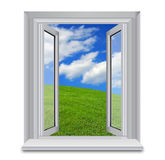 Open window to the blue skies Stock Images