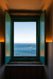 Open window to the end of the world in Finisterre Royalty Free Stock Photography