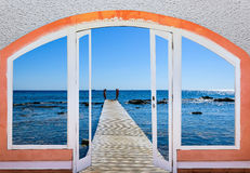 Open window to the sea Stock Photography