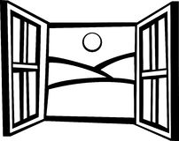 Open window vector illustration Royalty Free Stock Images