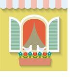 Open window .vector  illustration Royalty Free Stock Photo