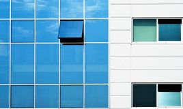 Open window in wall building Royalty Free Stock Image