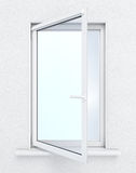 Open window on white background. 3D render image Royalty Free Stock Photos