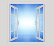 Open window vector illustration