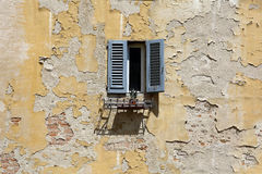 Open window on the yard Royalty Free Stock Photography