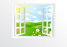 Open windows Royalty Free Stock Photos