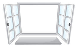 Open windows Stock Image