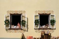 Open windows. In salzburg austria Stock Photos